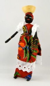 Red, Green and Blue Cloth Handcrafted Doll