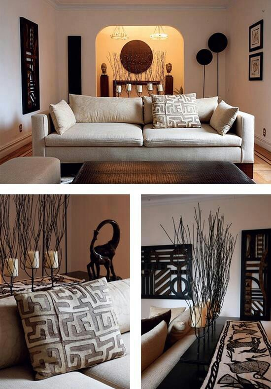African American Living Room Apartment Decor: African Crafts