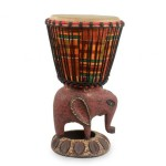 Authentic African Elephant base Djembe Drum