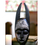 Black Handcrafted Antelope Mask